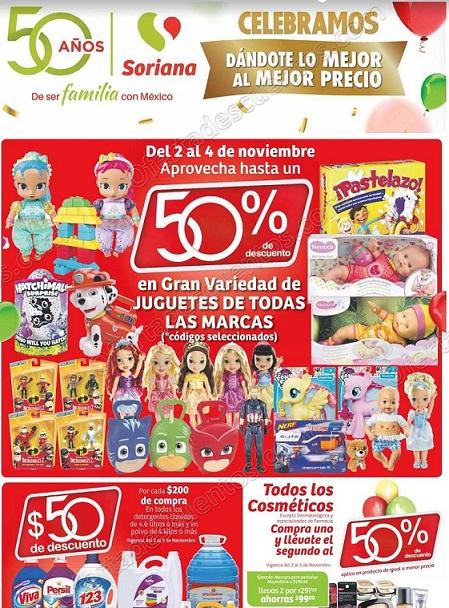 Soriana: Promociones de fin de semana y 50 Aniversario del 2 al 5 de Noviembre