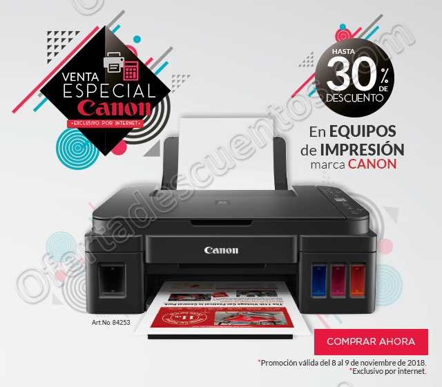 Office Depot: Venta Especial Canon 8 y 9 de Noviembre 2018