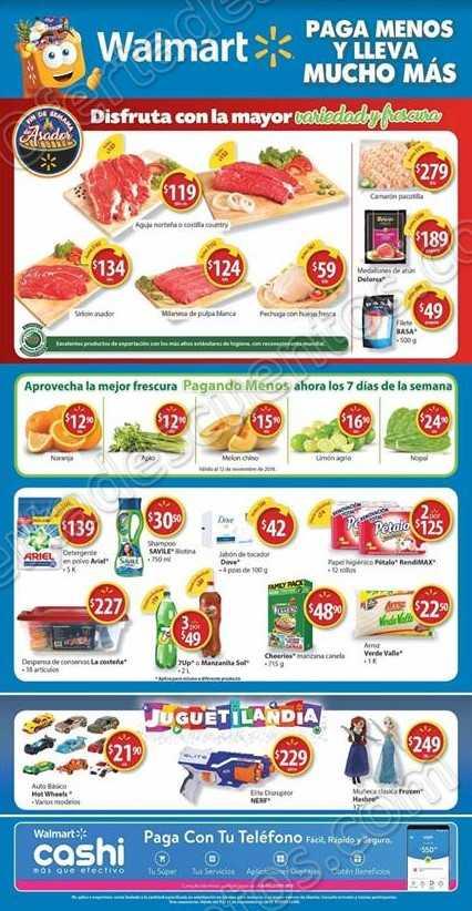 Walmart: Ofertas Fin de Semana de Asador, Carnes, frutas y Verduras al 11 de Noviembre