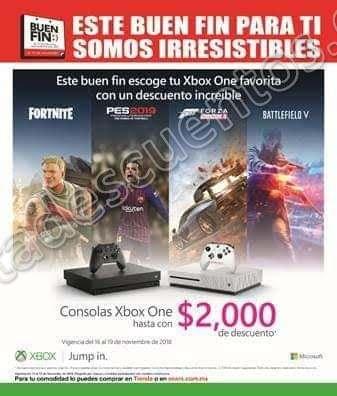 Ofertas Buen Fin 2018 Xbox One S 1TB
