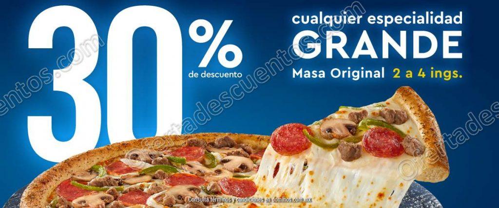 El Buen Fin 2018 Domino's Pizza 30% de Descuento