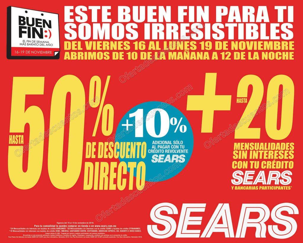 El Buen Fin 2018 Sears: Hasta 50% de Descuento