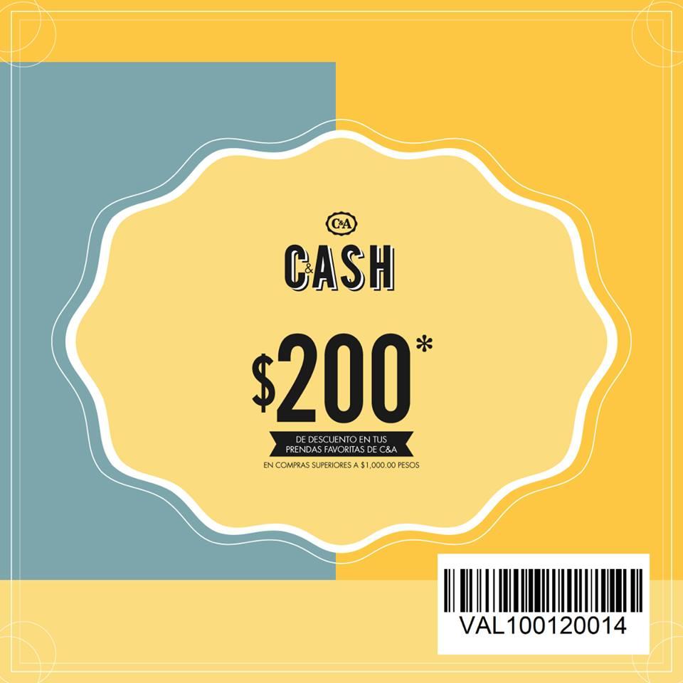 C&A: Cupón $200 de descuento en compras de $1,000 o más