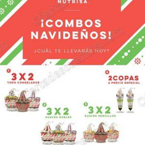 Combos Navideños Nutrisa: 3×2 en Helados de Diciembre 2018 a Enero 2019