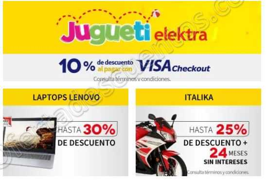 Elektra: 10% de descuento en Juguetes con Visa Checkout