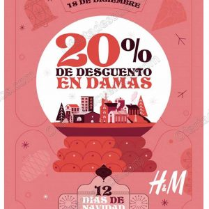 H&M: 12 Días de Navidad 20% de descuento en Damas solo 18 de Diciembre 2018