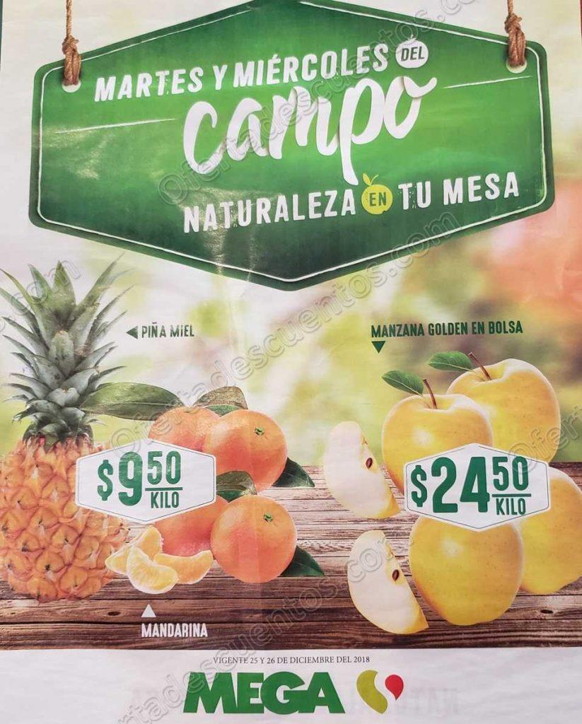 Frutas y Verduras Soriana 25 y 26 de diciembre 2018