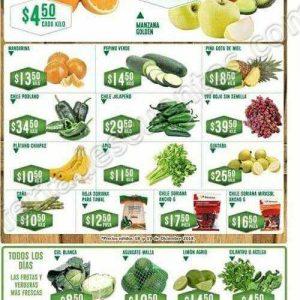Frutas y Verduras Soriana 1 y 2 de Enero 2019
