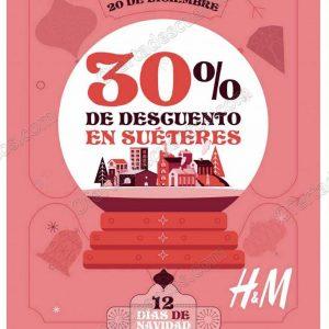 H&M: 12 Días de Navidad 30% de descuento en Suéteres solo 20 de Diciembre 2018