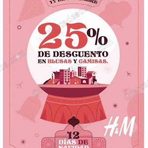 H&M: 12 Días de Navidad 25% de descuento en Blusas y Camisas solo 17 de Diciembre 2018