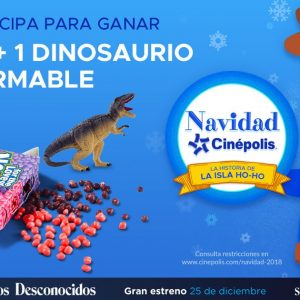 Navidad Cinépolis 2018 Día 5: Gana 1 Nerds + 1 Dinosaurio Armable