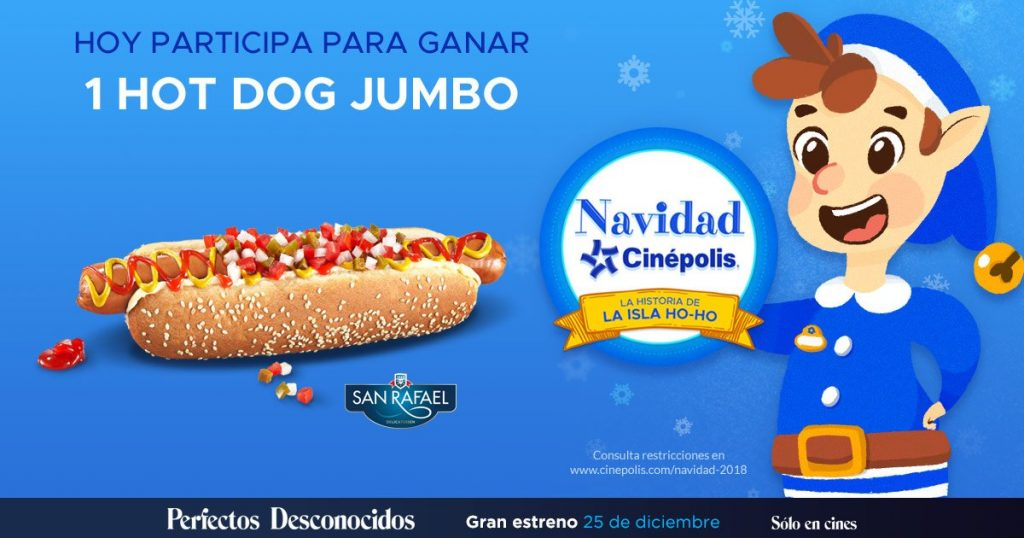 Navidad Cinepolis 2018 Día 4: Hot Dog Jumbo