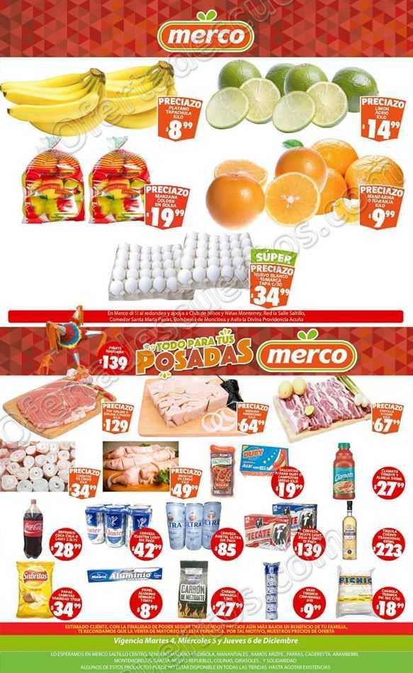 Preciazos en Frutas y Verduras Merco del 4 al 6 de Diciembre 2018