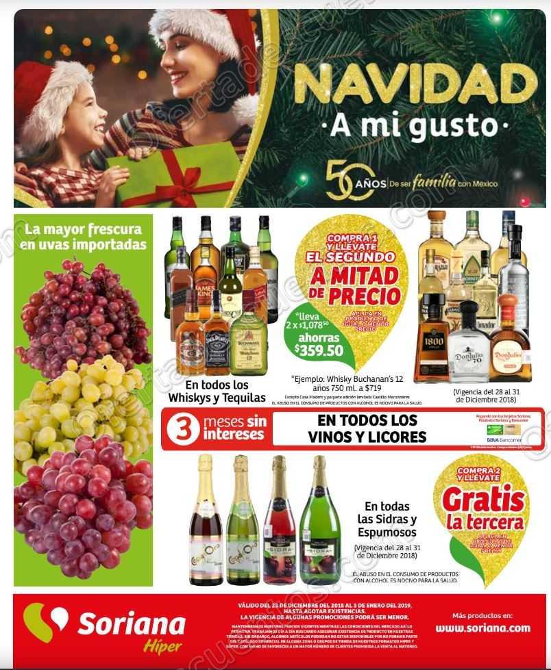 Soriana: Promociones de fin de semana del 28 al 31 de Diciembre 2018
