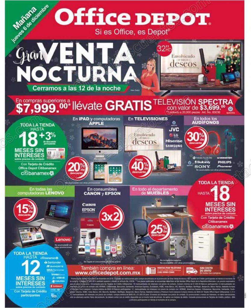 Venta Nocturna Office Depot 6 de Diciembre 2018