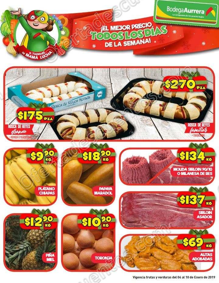 Bodega Aurrerá: Frutas y Verduras del 8 al 10 de enero 2019