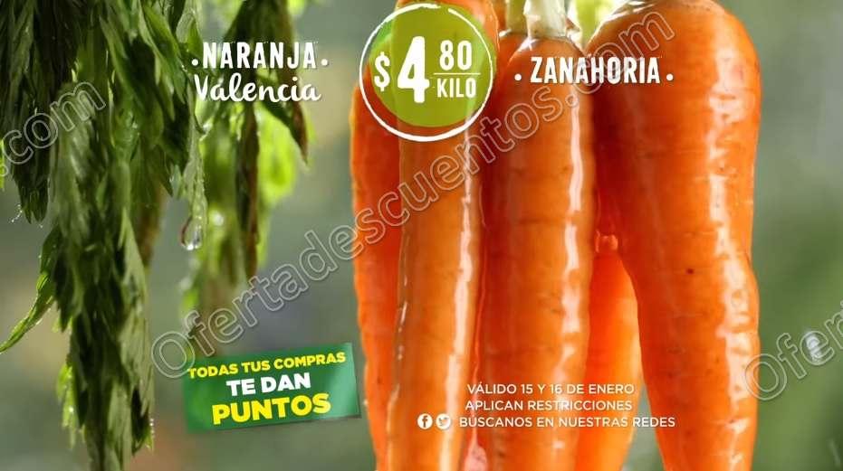 Soriana: Frutas y Verduras 15 y 16 de Enero 2019