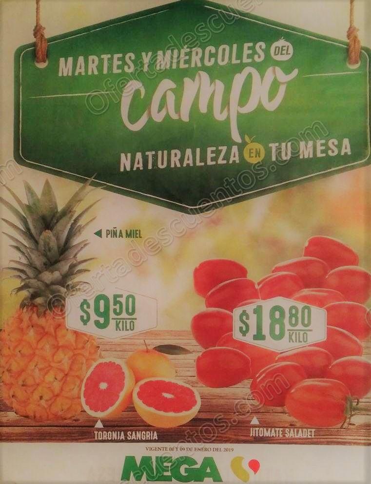 Mega Soriana: Frutas y Verduras 8 y 9 de Enero 2019