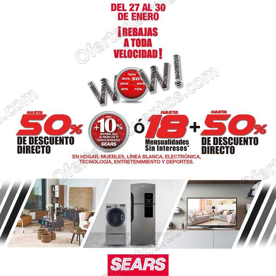 Últimas Rebajas Wow Sears 2019: Hasta 50% de descuento en Hogar, Muebles, Linea Blanca y más