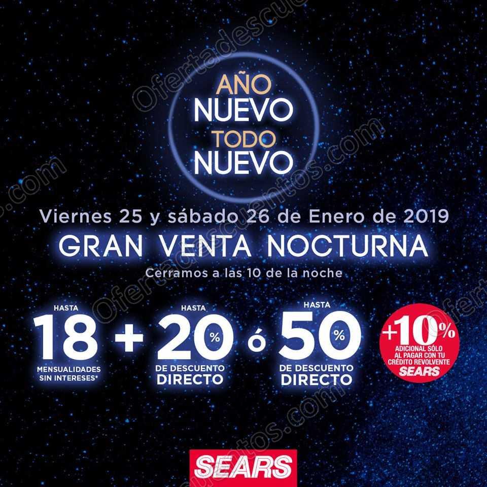 Venta Nocturna Sears 25 y 26 de enero 2019