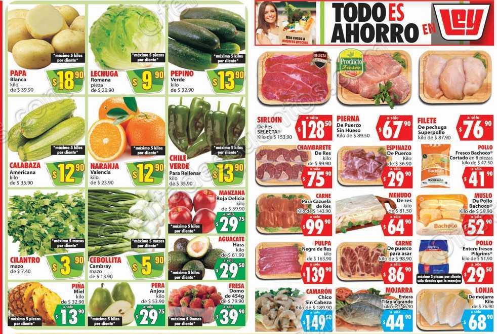 Casa Ley: Ofertas Frutas y Verduras 26 y 27 de Febrero 2019