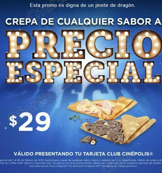 Cinépolis: Crepa de cualquier sabor a solo $29 pesos