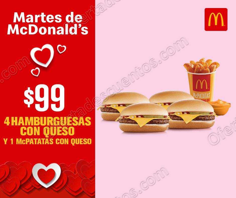 Cupones Martes de McDonald's 19 de Febrero 2019