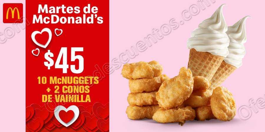 Cupones Martes de McDonald's 5 de Febrero 2019