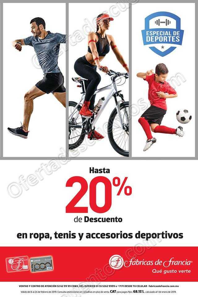 Especial de Deportes Fábricas de Francia 2019: Hasta 20% de descuento en ropa, calzado y accesorios deportivos