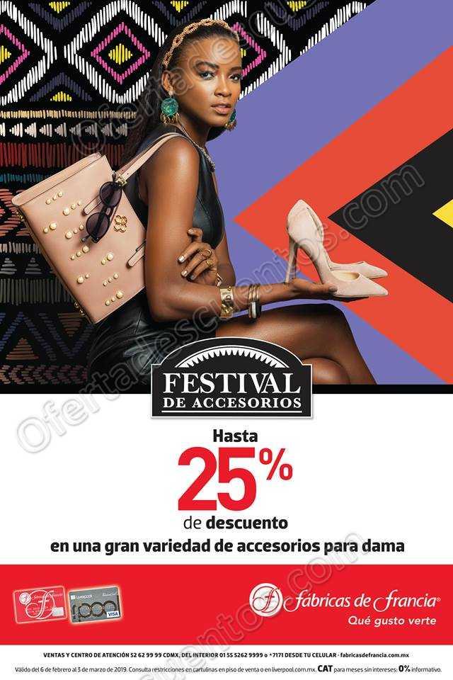 Festival de Accesorios Fábricas de Francia 2019: Hasta 25% de descuento en Accesorios para Dama