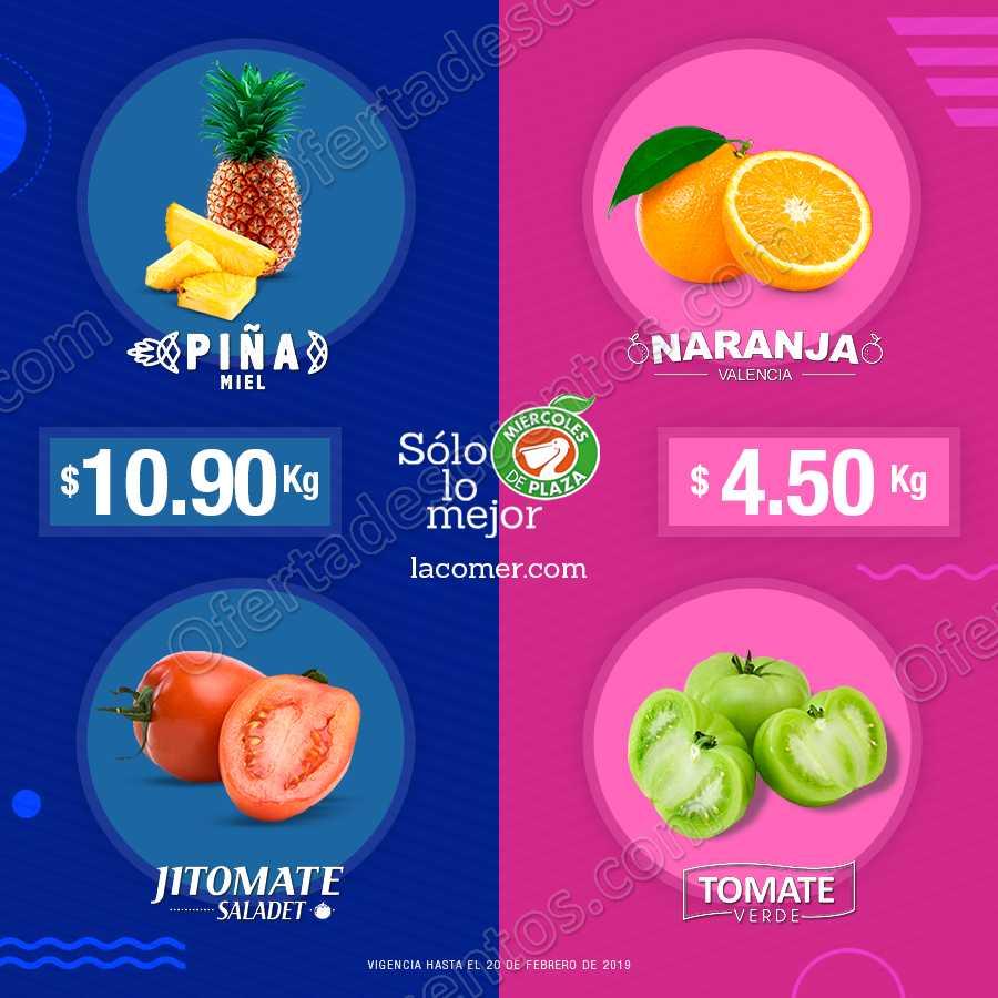 Frutas y Verduras Miércoles de Plaza La Comer 20 de Febrero 2019