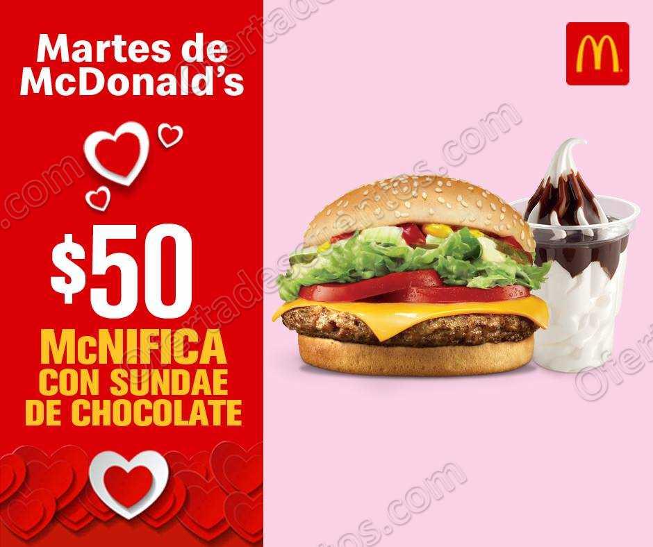 Cupones Martes de McDonald's 26 de Febrero 2019