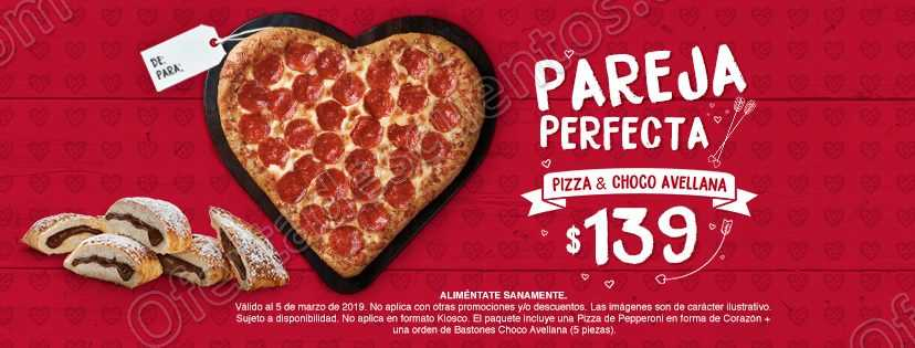 Pizza Hut: Pizza Corazón + Bastones Choco Avellana por $139