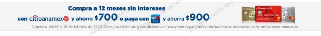 Sam's: Días Azules Citibanamex con hasta $900 de descuento del 19 al 21 de Febrero
