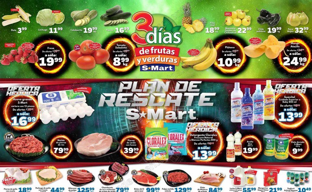 S-Mart: 3 Días de frutas y verduras del 26 al 28 de Febrero 2019