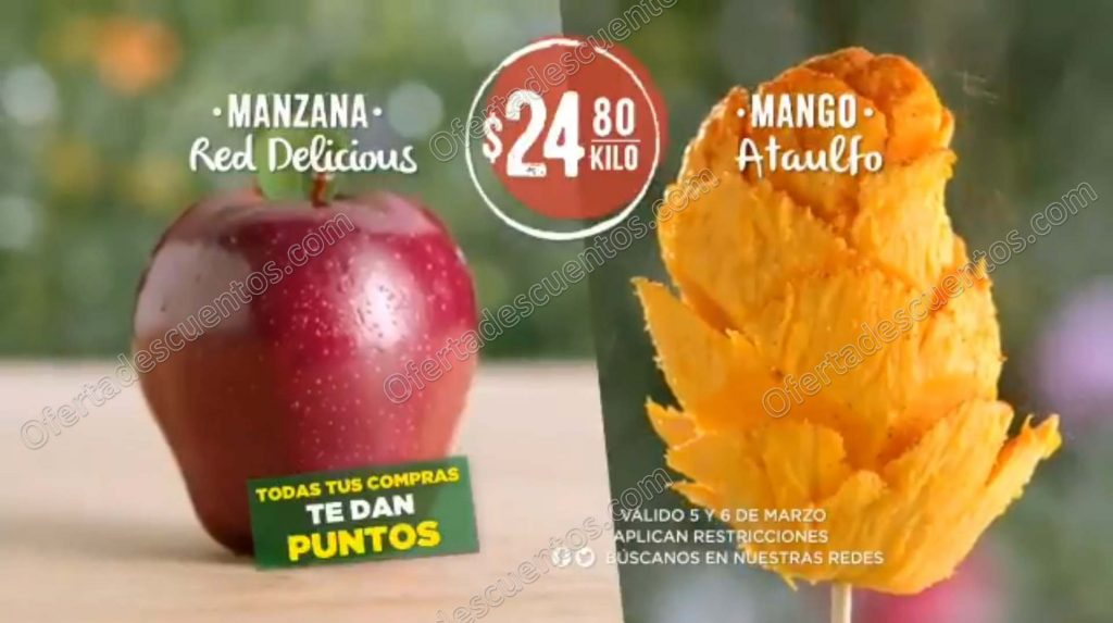 Frutas y Verduras Soriana 5 y 6 de Marzo 2019