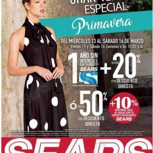 Venta Especial de Primavera Sears del 13 al 16 de Marzo 2019