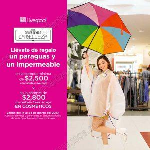 Liverpool: Gratis Paraguas e Impermeable con compra mínima en Cosméticos