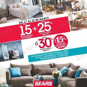 Venta Especial Sears: Hasta 30% de descuento en Muebles, Hogar, Línea Blanca y más del 21 al 25 de Marzo