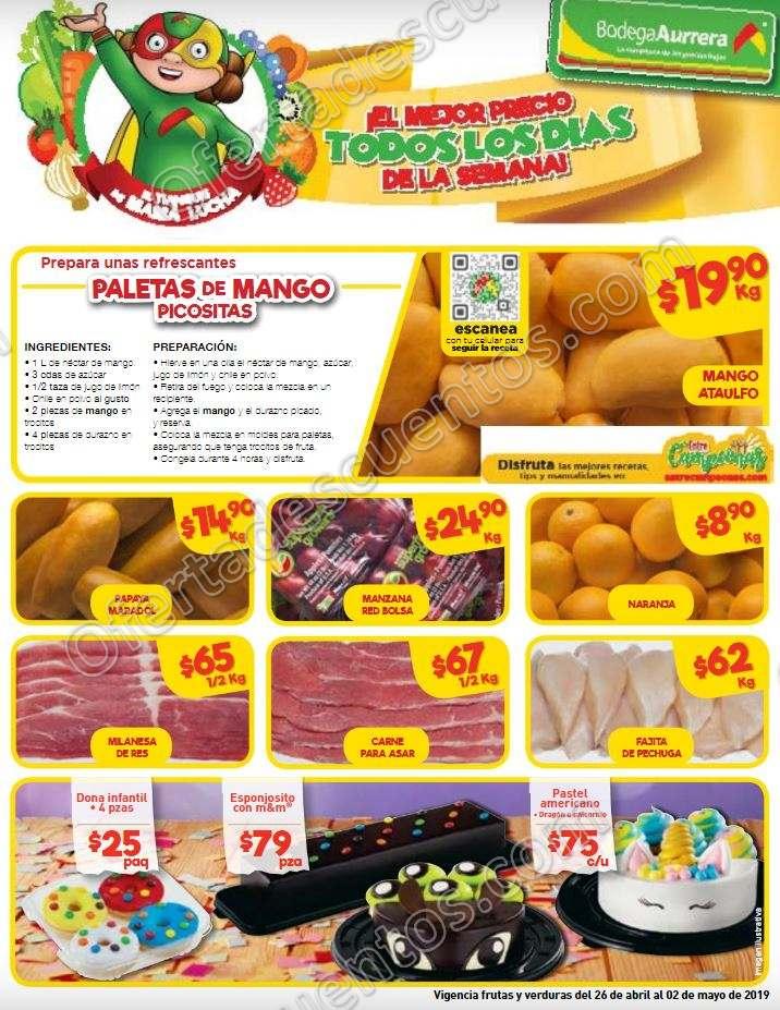 Bodega Aurrerá: Folleto Ofertas Frutas y Verduras del 26 de Abril al 2 de Mayo 2019