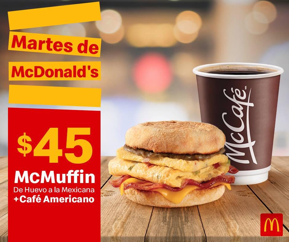 Cupones Martes de McDonald's 2 de Abril 2019