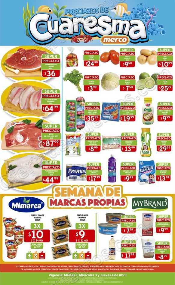 Merco: Ofertas Frutas y Verduras del 2 al 4 de Abril 2019