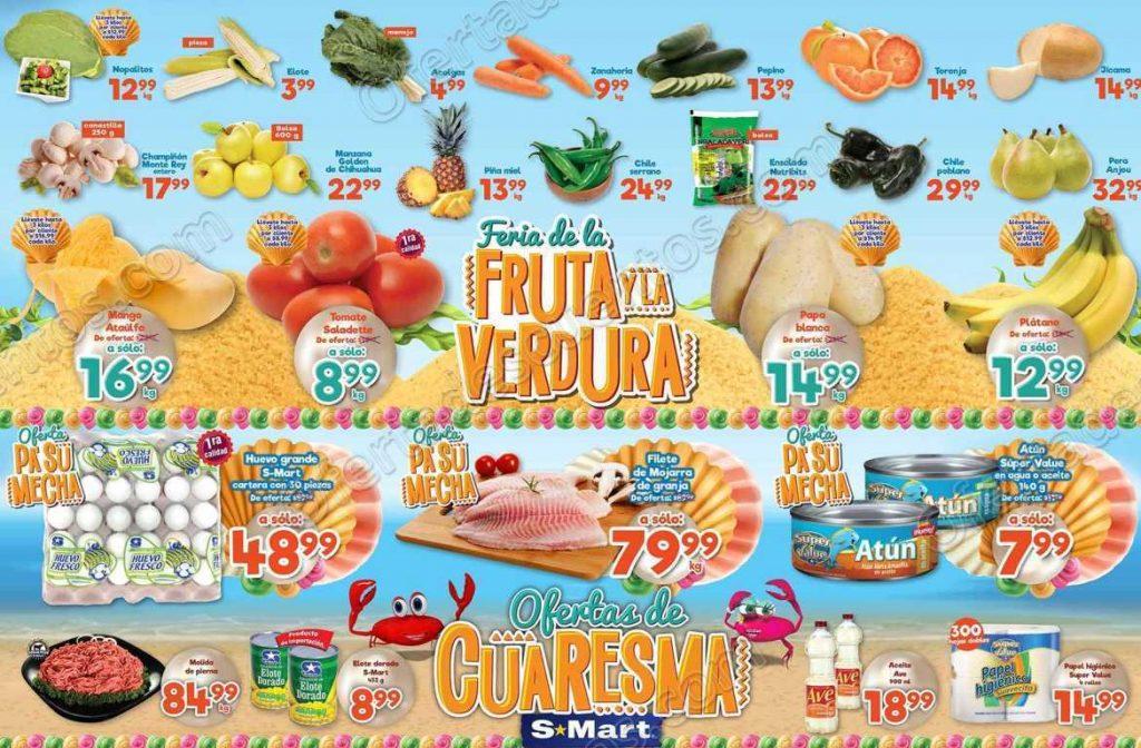 S-Mart: 3 Días de Ofertas en Frutas y Verduras del 2 al 4 de Abril 2019