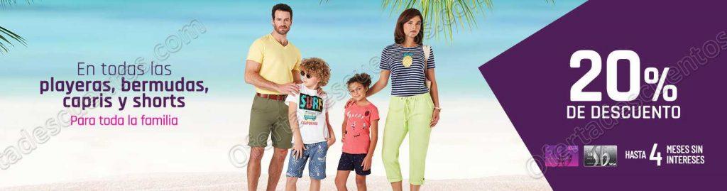 Suburbia: 20% de descuento en Playeras, Bermudas, Capris y Shorts para toda la Familia