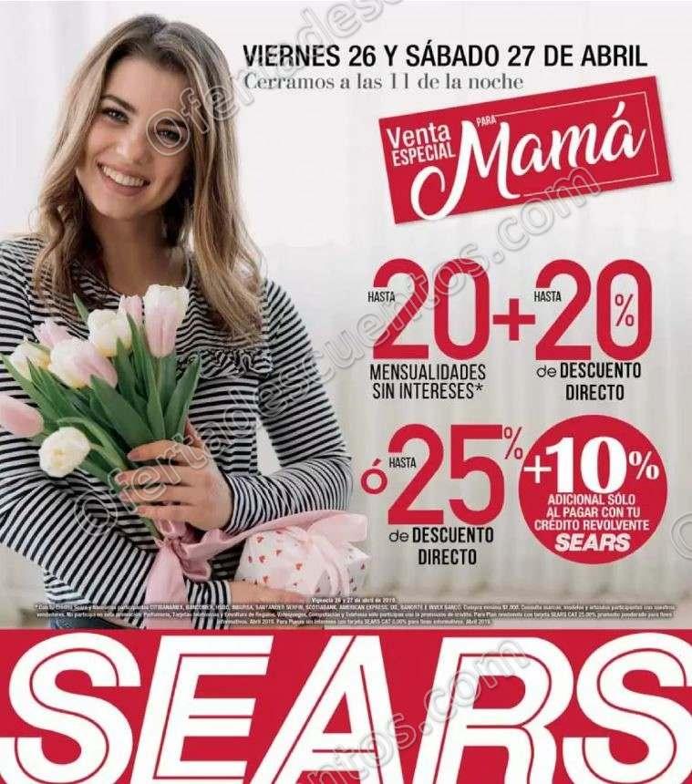 Venta Nocturna Para Mamá Sears 26 y 27 de Abril 2019