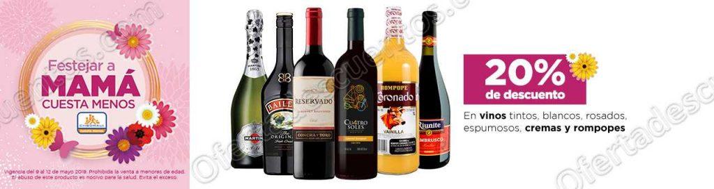 Chedraui: Promociones Festejar a Mamá Cuesta Menos 20% de descuento en Vinos de Mesa
