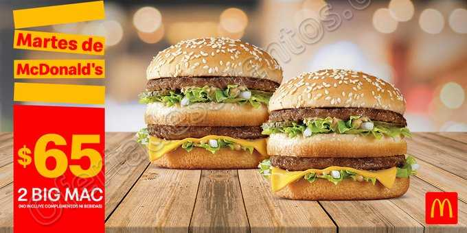 Cupones Martes de McDonald's 14 de Mayo 2019