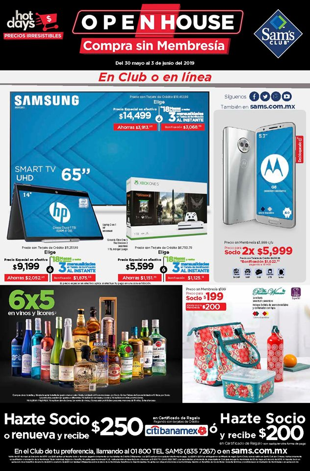 Folleto Ofertas Open House Sams Club del 30 de Mayo al 3 de Junio 2019