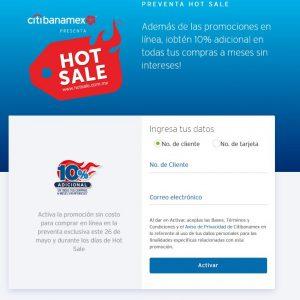 Ofertas Hot Sale 2019 Citibanamex: 10% de descuento adicional en Tiendas Participantes