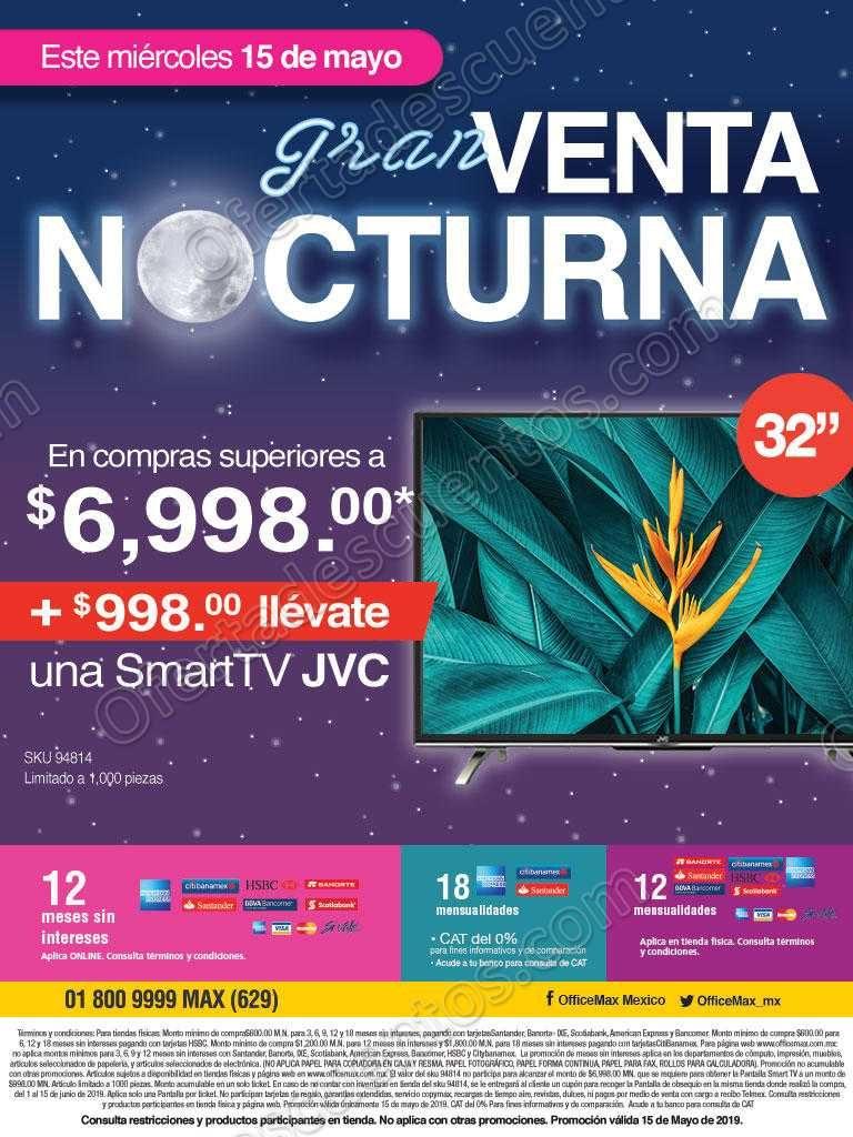 Venta Nocturna Office Max 15 de Mayo 2019
